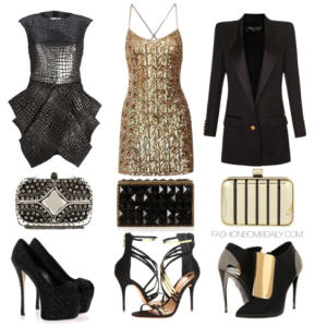 What-to-Wear-For-New-Years-Eve-Balmain-Long-Square-Shoulder-Single-Button-Blazer-Giuseppe-Zanotti-Schutz-Ezri