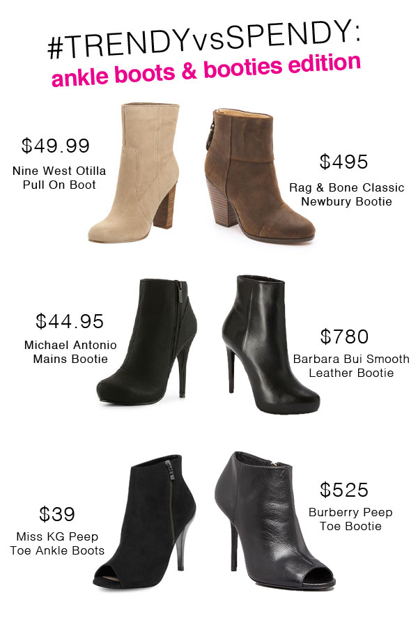 {Trendy vs Spendy} Designer-Inspired Ankle Boots