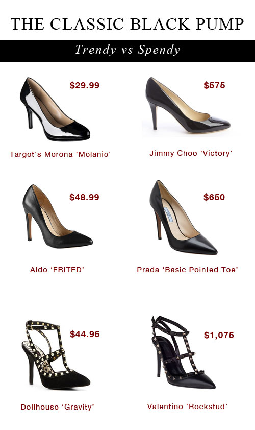 Trendy vs. Spendy: Valentino, Jimmy Choo, and Prada Black Pumps